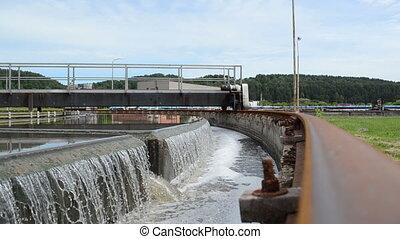 sewage filtration water - Primary sewage waste water...