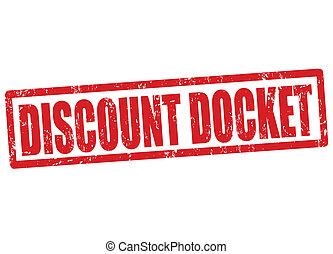 Discount docket stamp