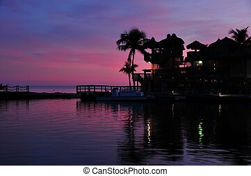 Florida Keys USA Beach Sunset Small Private Pier