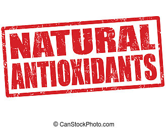 Natural antioxidants stamp - Natural antioxidants grunge...