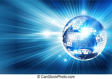 Disco Ball Background - Shiny Blue Disco Ball Background....