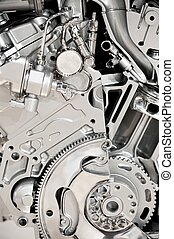 Vehicle Engine - Modern Vehicle Engine Display. Modern...