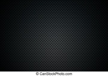 Black Mesh Background Illustration. Dark Abstract Background
