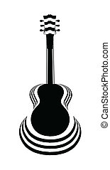 Acoustic Guitar Cutout - Traditional guitar shape...