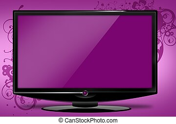 Pinky HDTV Illustration - Pinky HD TV Illustration with...