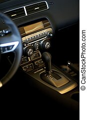 Sport Car Interior - Sport Car Elegant Leather Interior and...