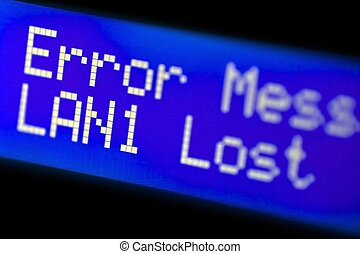 LAN Error - LAN 1 Error Messange. LAN 1 Lost. Blue Small...