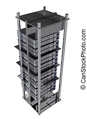 Silver Servers Rack - Hosting Theme - Silver Servers Rack -...