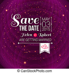 Save the date for personal holiday Wedding invitation Vector...