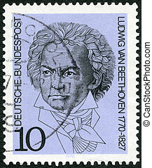 GEMANY - 1970: shows Ludwig van Beethoven (1770-1827), composer