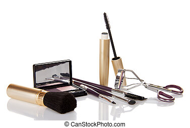 Set of brushes for make-up - Mascara, shadows, eyelash...