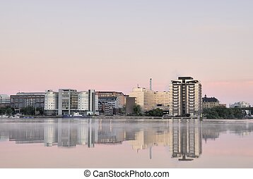 Liljeholmen Skyline - A picture of the Liljeholmen (Sweden)...