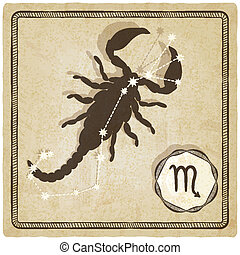 astrological sign - scorpio - vector illustration