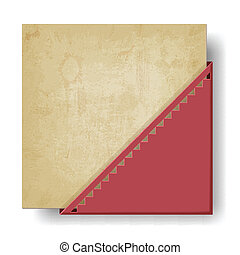 old paper background with red corner