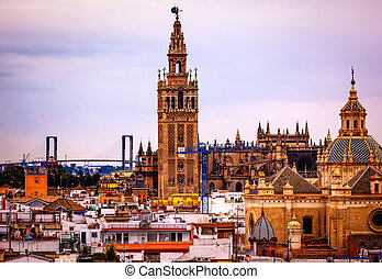 Giralda Bell Tower Cathedral of Saint Mary of the See Spire...