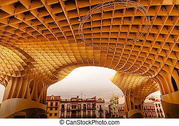 The Mushrooms Metropol Parasol Seville Andalusia Spain....