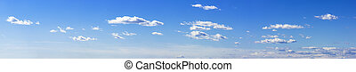 blue sky banner - panoramic view of blue sky and clouds