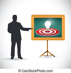 idea target presentation illustration