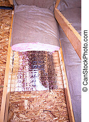 Insulation Stages of Attic - Insulation of attic with...