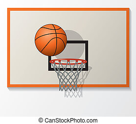 vector basketball - vector illustration of basketball net...