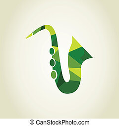 Saxophone the abstract