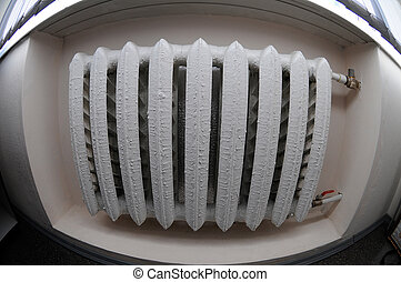 heater  - White heater on a white wall