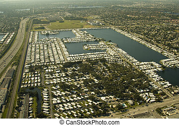 Aerial Views of Miami - Aerial view of some commercial areas...
