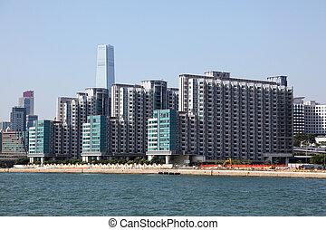 Waterfront buildings in Hong Kong, China