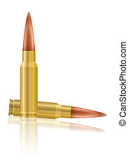 bullets - Bullets on a black background. Vector...