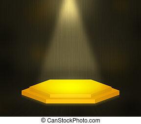 Gold Platform Stage