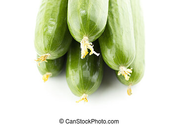 Fresh Cucumber on white background
