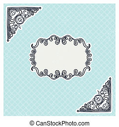 decorative corners and frame in vintage style