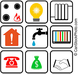 set icon for home appliance - set colorful icons with...