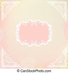 ornamental decorative blank with frame and corners