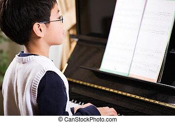 Játék, zongora