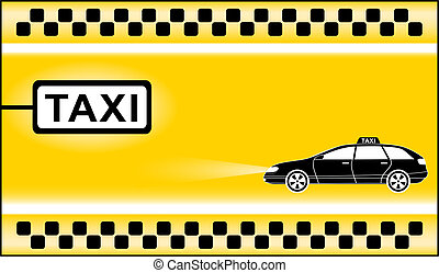 yellow modern taxi background with cab stop
