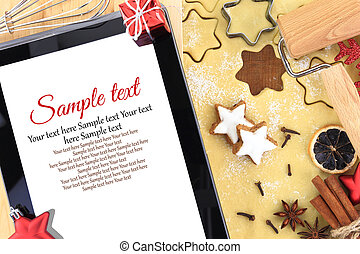 Online star cookie recipe for Christmas