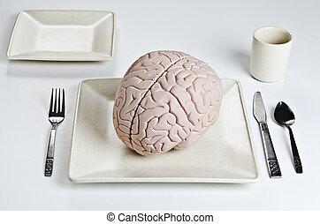alimento, cérebro