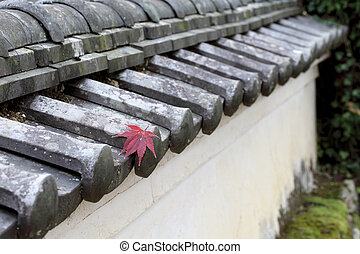 apanese shrine or temple wall - white wall of japanese...
