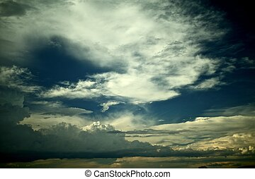 Extraordinary Sky. Dramatic Colors of the Stormy Sky.
