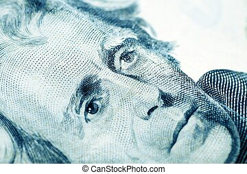 President Jackson - Twenty American Dollars Bill in Macro...