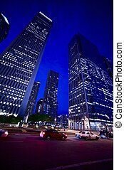 NIght Sky - Chicago Skyscrapers by NIght. Photo Taken From...