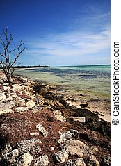 Bahia Honda State Park Beach. South Florida USA. Vertical...