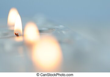 Glassy Candles. Home Decoration
