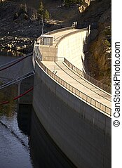 Gross Dam at Gross Reservoir Near Boulder Colorado ,USA....