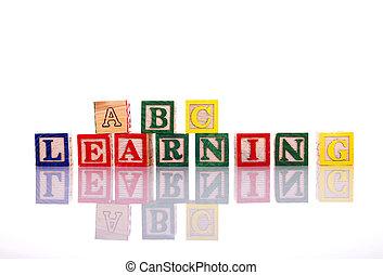 Alphabet, Blöcke,  -,  abc, Lernen