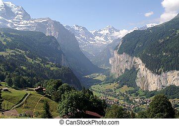 Jungfrau Mountains. Germany Alps - Europe.