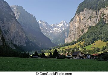 Jungfrau Germany Alp Mountain Landscape. Germany Europe