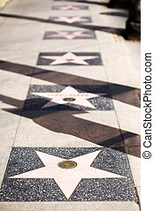 Stars Alley Hollywood - Stars Alley in Hollywood - One Empty...