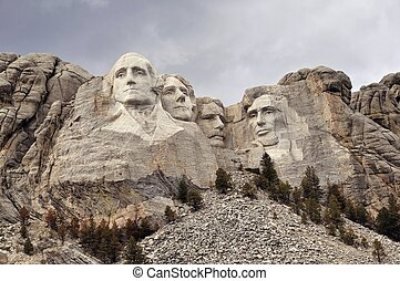 Mount Rushmore National Memorial. South Dakota, Rapid City,...